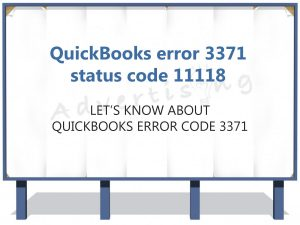 Why Does QuickBooks Error 3371 StatusCode - 11118 Occur?