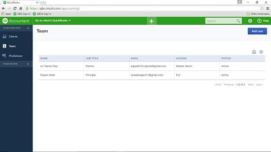 QuickBooks Online Accountant (QBOA)