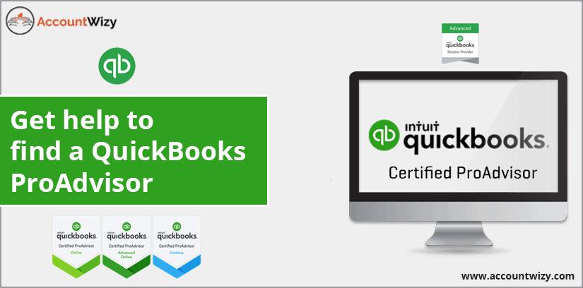 Get help to find a QuickBooks ProAdvisor