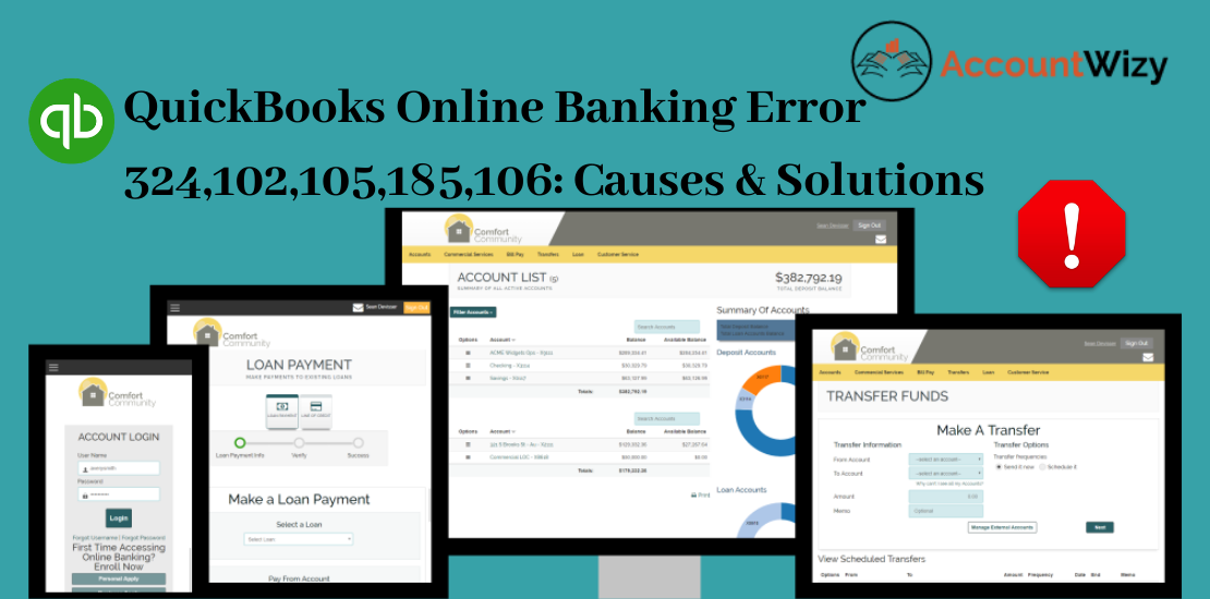 QuickBooks Online Banking Error 324,102,105,185,106_ Causes & Solutions