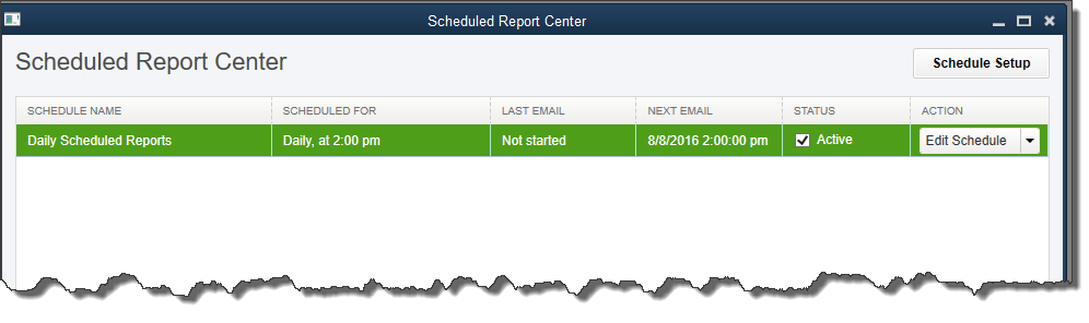 scheduled report center
