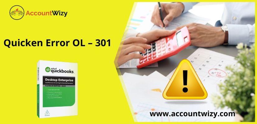 Quicken Error OL - 301