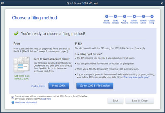 choose a filing method