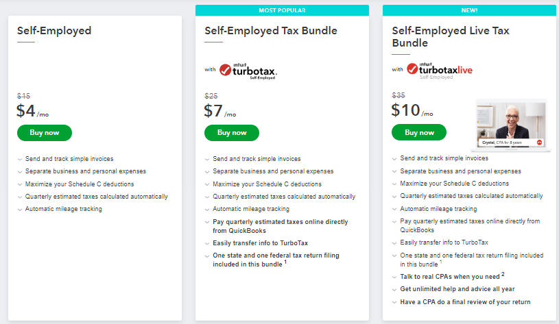 Cost and Pricing of QuickBooks Self-employed