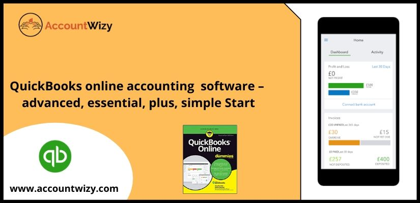 QuickBooks online accounting software – advanced, essential, plus, simple Start