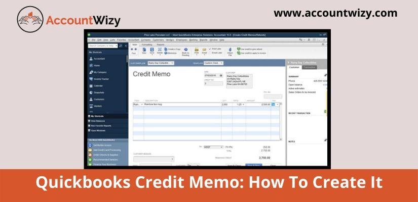 Quickbooks Credit Memo: How To Create It
