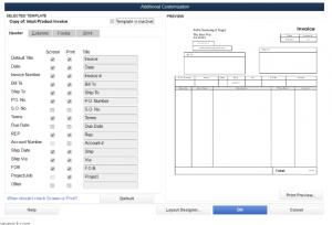Quickbooks invoice tamplate
