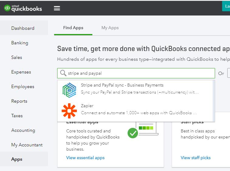 Stripe QuickBooks Integration