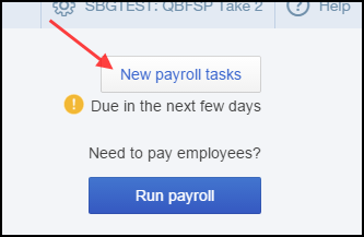 New payroll task