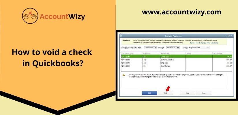 How to void a check in Quickbooks?