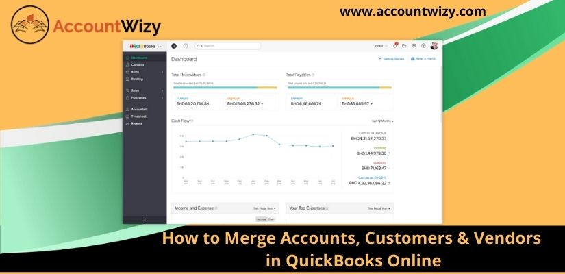 How to Merge Accounts, Customers & Vendors in QuickBooks Online