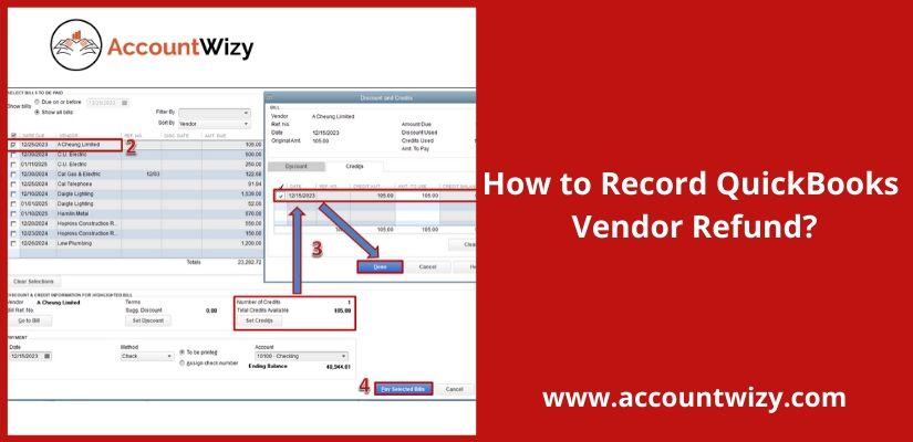 How to Record QuickBooks Vendor Refund?