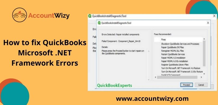 How to fix QuickBooks Microsoft .NET Framework Errors