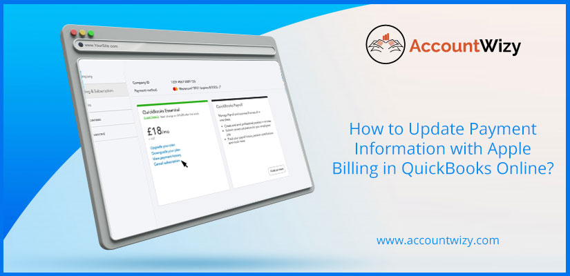 How to Update Payment Information with Apple Billing in QuickBooks Online?
