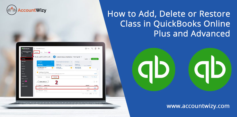 How to Add, Delete or Restore Class in QuickBooks Online Plus and Advanced