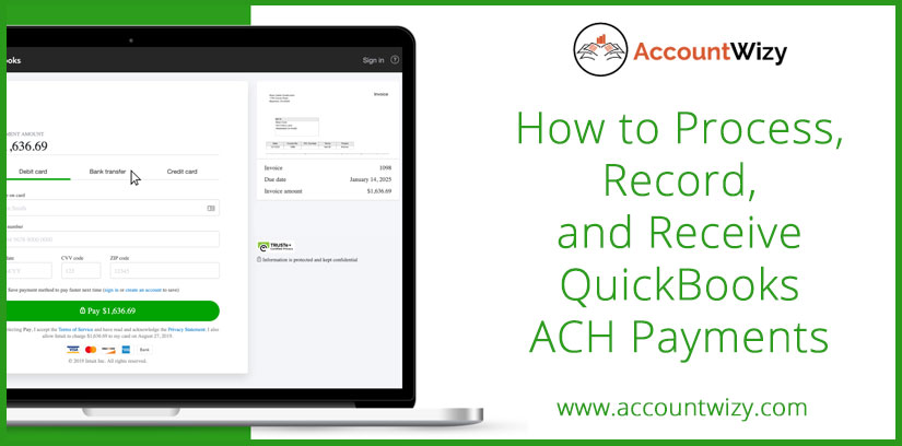 How to Process, Record, and Receive QuickBooks ACH Payments