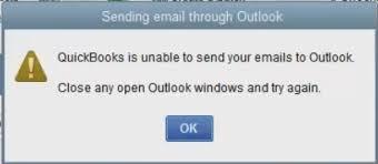 QuickBooks unable to send Email -error code