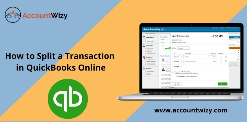 How to Split a Transaction in QuickBooks Online