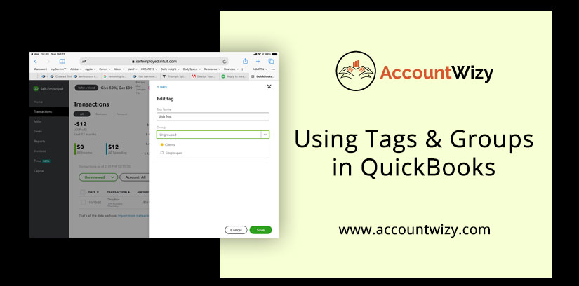 Using Tags & Groups in QuickBooks