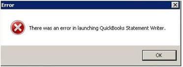 QuickBooks statement writer issue message