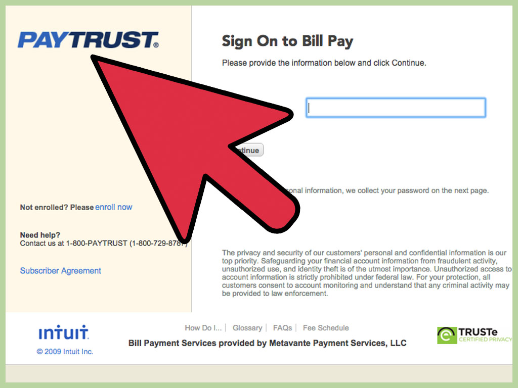 Paytrust online bill-paying software service