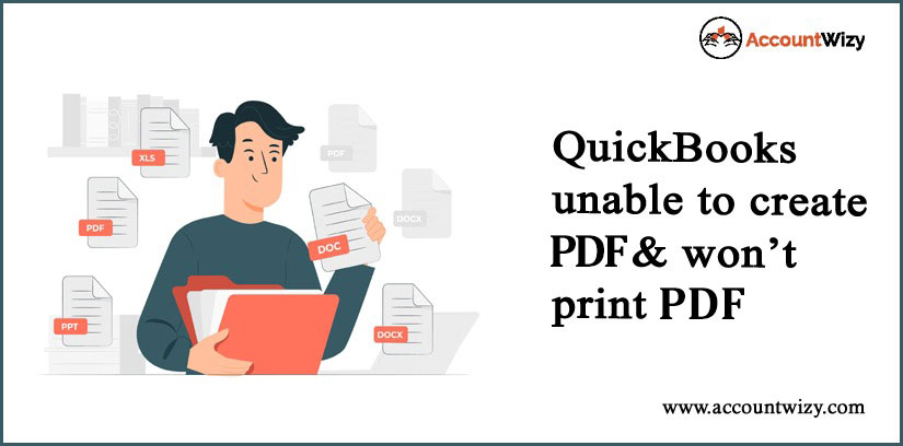 QuickBooks Unable to Create PDF & Wont Print PDF